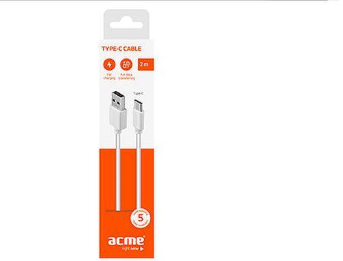 купить ACME CB1042W USB type-C cable, 2m, White в Кишинёве