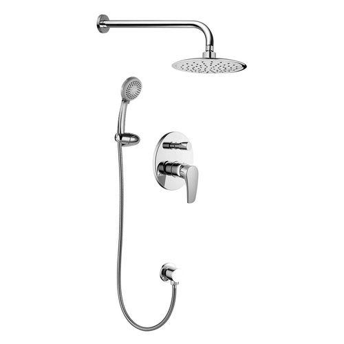 JESENIK смеситель скрытого монтажа для душа (смеситель.с переключ., верхн.душ 200 мм, ручной душ 120 мм 3 режима)  (ванная комната)
