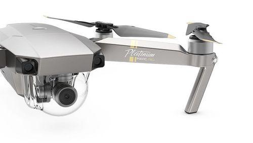 cumpără (152870) DJI Mavic Pro Platinum (EU) - Portable Drone, RC, 12MP, 4K 30fps / FHD 96fps camera with gimbal, max. 5000m height/ 65kmph speed, reduced noise 4dB, flight time 30min, Battery 3830 mAh, 743g, Platimum în Chișinău
