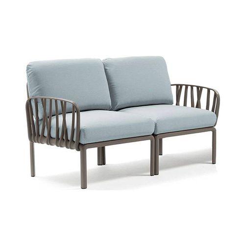 купить Диван с подушками Nardi KOMODO 2 POSTI TORTORA-ghiaccio Sunbrella (Диван с подушками для сада и терас) в Кишинёве