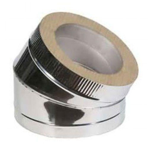 Отвод двустенный из нержавеющей стали  45° Ø 100-180 мм