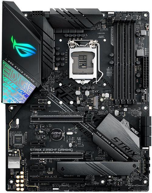 cumpără ASUS ROG STRIX Z390-F GAMING, Socket 1151, Intel® Z390 (9th/8th Gen CPU), Dual 4xDDR4-4266, 3xPCIe X16, CPU Intel graphics, HDMI, DP, 6xSATA3, RAID, 2xM.2, S1220A HDA, Optical S/PDIF,GbE LAN, 4xUSB3.1 Gen 2 (1xType-C), 4xUSB3.1, Aura Sync, ATX în Chișinău