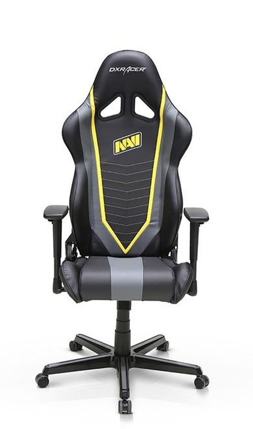 купить Gaming Chairs DXRacer - Racing GC-R60-NGY-Z1, Black/Grey/Yellow - PU leather, Gamer weight up to 100kg / growth 165-195cm, Foam Density 50kg/m3, 5-star Aluminum IC Base, Gas Lift 4 Class, Recline 90*-135*, Armrests: 3D, Pillow-2, Caster-2*PU, W-23kg в Кишинёве