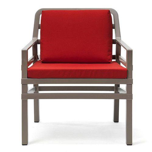 купить Кресло с подушками Nardi ARIA TORTORA cherry 40330.10.065.065 (Кресло с подушками для сада и терас) в Кишинёве