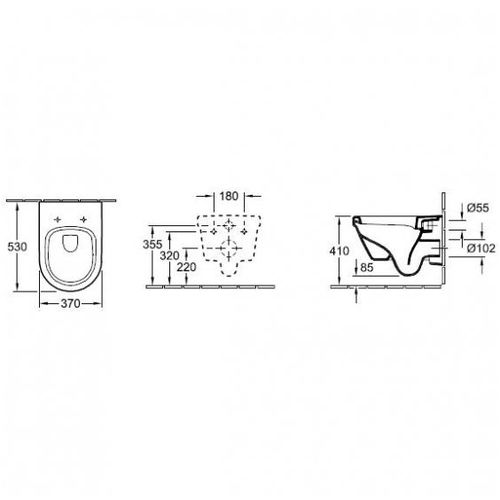 Комплект: ARCHITECTURA унитаз подвесной 37*53см, DirectFlush, с сидением Slow closing + IMPRESE комплект инсталляции 3в1