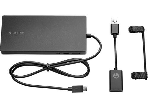 cumpără HP Elite USB-C Docking Station, DisplayPort, HDMI, RJ-45, 5 USB ports +  USB-C™ to USB-A  adapter în Chișinău