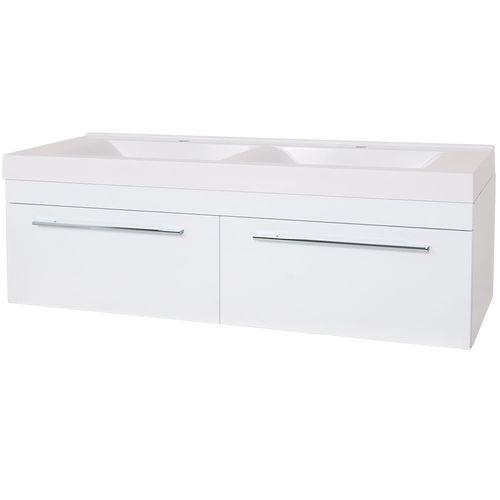купить Sinonimo Шкаф белый snow с умывальником Juno 1400 в Кишинёве