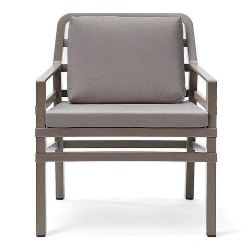 купить Кресло с подушками Nardi ARIA TORTORA grigio 40330.10.163.163 (Кресло с подушками для сада и терас) в Кишинёве