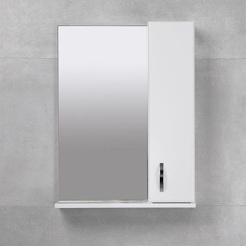 купить Bris Шкаф-зеркало белое 550 R в Кишинёве