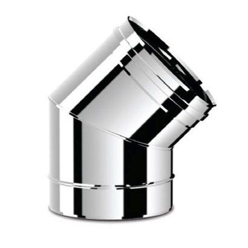 купить Ø200 Угол дымоходный 45° (inox 304) в Кишинёве