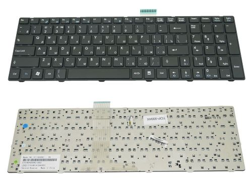 купить Keyboard MSI CR620 CR630 CR650 A6200 GE620 CX620 FX600 S6000 MS168 ENG/RU Black в Кишинёве