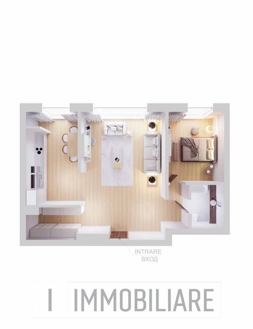 Apartament cu 2 camere, sect. Rîșcani, str. Spartacus.