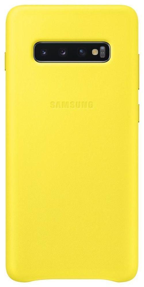 cumpără Husă telefon Samsung EF-VG975 Leather Cover S10+ Yellow în Chișinău