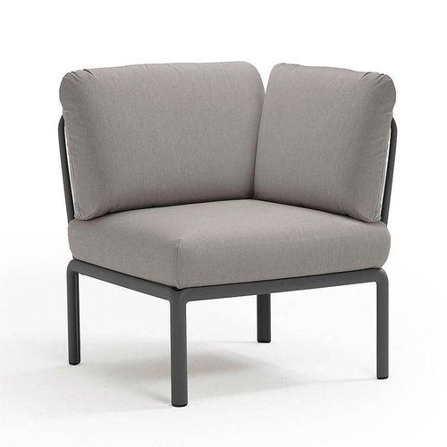 купить Кресло модуль угловой с подушками Nardi KOMODO ELEMENTO ANGOLO ANTRACITE-grigio 40374.02.163 в Кишинёве