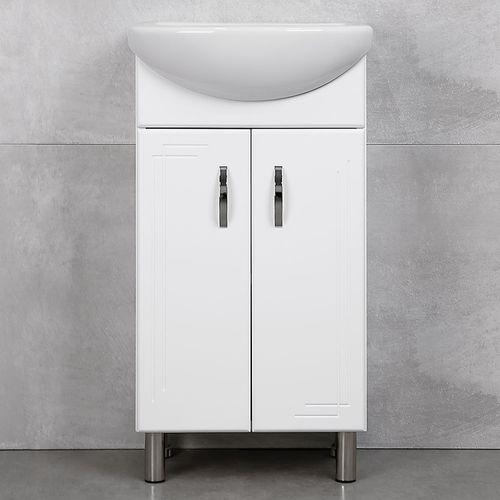 купить Verso Шкаф белый хром под умывальник Azov 450 в Кишинёве