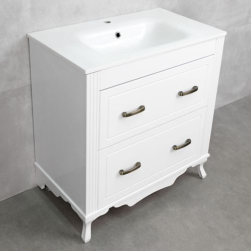 купить Selecto Шкаф белый с умывальником Rossario 800 в Кишинёве