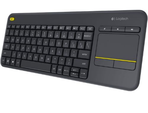 купить Клавиатура Logitech K400 Plus Black TV Wireless Touch Keyboard USB, 920-007147 (tastatura fara fir/беспроводная клавиатура), www в Кишинёве