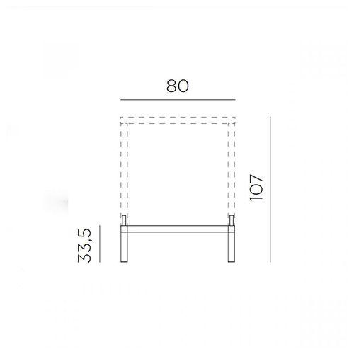 купить Комплект для увеличения высоты стола Nardi KIT CUBE 80 HIGH vern. antracite 48152.02.000 (Комплект для увеличения высоты стола Nardi CUBE 80) в Кишинёве