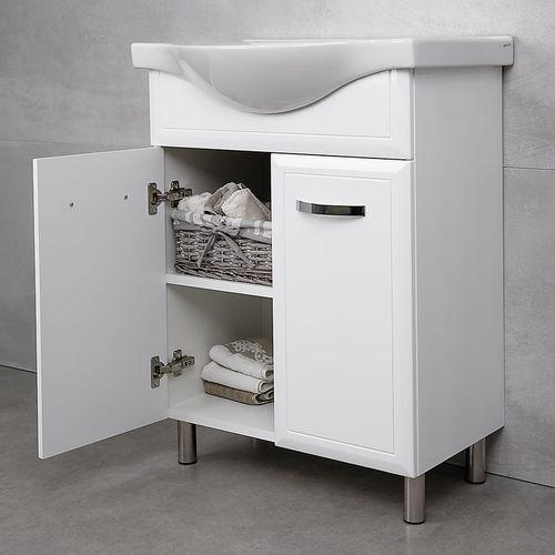 купить Allure Шкаф белый дуо с умывальником Alba 650 в Кишинёве