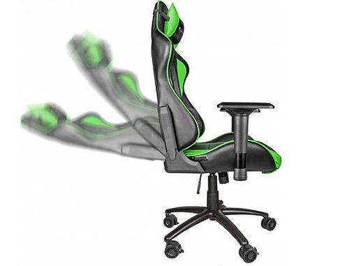 купить Genesis Nitro 880 Gaming Chair, Black/Green, Gaslift Class 4, Maximum Load 150Kg, PU Leather в Кишинёве