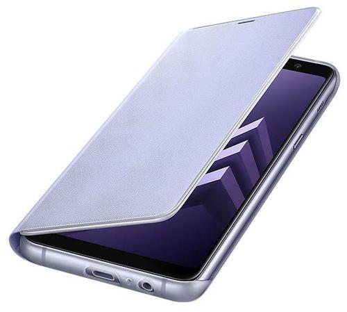 купить Чехол для смартфона Samsung EF-FA730, Galaxy A8+ 2018, Neon Flip Cover, Orchid в Кишинёве