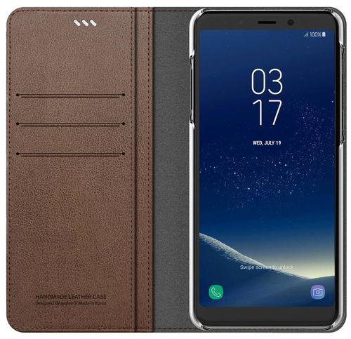 cumpără Husă pentru smartphone Samsung GP-A730, Galaxy A8+ 2018, Araree Mustang Diary, Brown în Chișinău