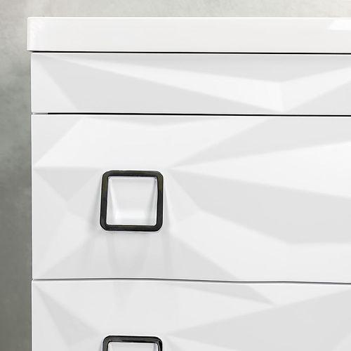 купить Шкаф Tetra белый с умывальником Rabia 800 Подвесной в Кишинёве