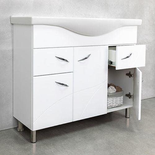 купить Шкаф Premium белый c умывальником Alba 1000 в Кишинёве