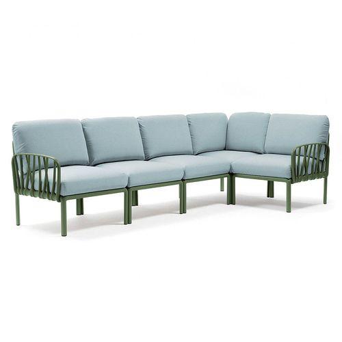 купить Диван с подушками Nardi KOMODO 5 AGAVE-ghiaccio Sunbrella 40370.16.138 (Диван с подушками для сада и терас) в Кишинёве