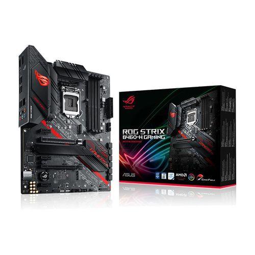 купить Материнская плата ASUS ROG STRIX B460-H GAMING Intel B460, LGA1200, Dual DDR4 2933MHz, 2xPCI-E 3.0x16, DP 1.4/HDMI 1.4b, AMD 2-Way CrossFireX, USB3.2, SATA RAID 6Gb/s, 2 x M.2 x4 Socket, Intel Optane, SB 8-Ch., GigabitLAN, AURA Sync в Кишинёве