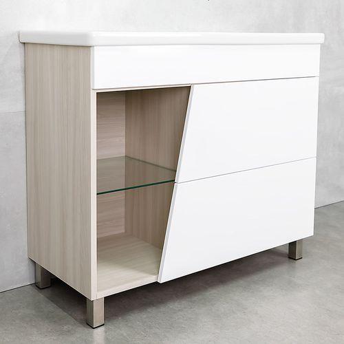 купить Trento Шкаф ясень с умывальником Soft  1000 в Кишинёве