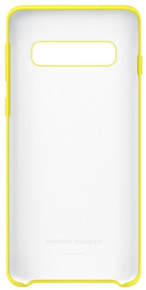 cumpără Husă telefon Samsung EF-PG973 Silicon Cover S10 Yellow în Chișinău