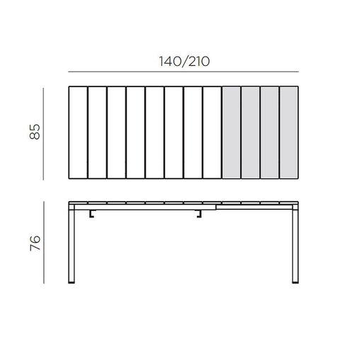 купить Стол раздвижной Nardi RIO 140 EXTENSIBLE BIANCO vern. bianco 48353.00.000 (Стол раздвижной для сада и террасы) в Кишинёве