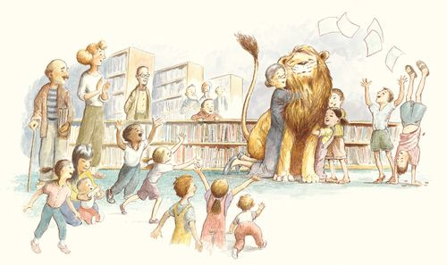 купить Лев в библиотеке - Мишель Кнудсен в Кишинёве