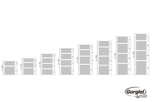 купить Полотенцесушитель GORGIEL TURKUS DRN 94/50 Graphit glossy 05 {11} в Кишинёве