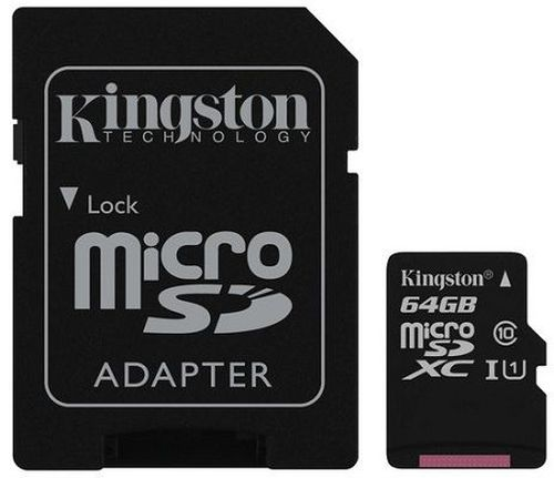 cumpără Kingston 64GB microSDHC Canvas Select Class10 UHS-I with SD adapter, 400x, Up to: 80MB/s în Chișinău