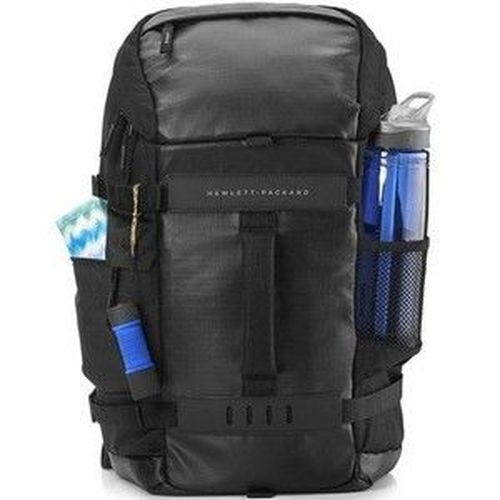 """купить HP NB Backpack 15.6"""" - Odyssey Backpack,Contoured and punctuated with distinctive contrasting external colors, trend-forward design unveils a unique digitized camouflage lining, providing a tactically modern appeal with fashionable durab., Black/Blue в Кишинёве"""