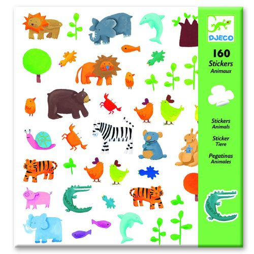 купить Djeco Animals Stickers Set в Кишинёве