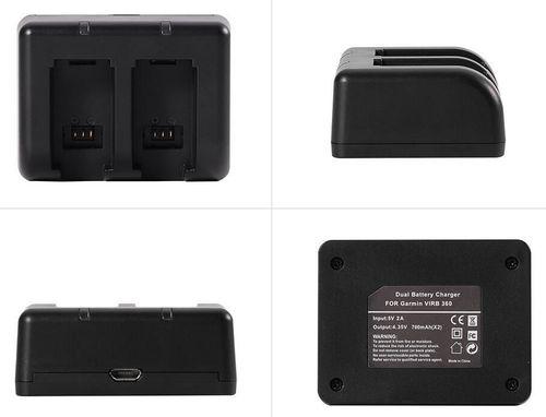 купить Зарядное устройство для аккумуляторов Garmin Acc, VIRB 360, Dual Battery Charger в Кишинёве
