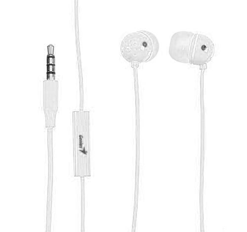 купить Genius HS-M210 White, In-Ear Headset, with Microphone, In-line remote for volume and call control, 3 interchangeable rubber ear caps   (31710183101) в Кишинёве