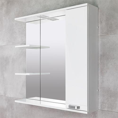 купить Rivera Шкаф-зеркало белый 860 R в Кишинёве
