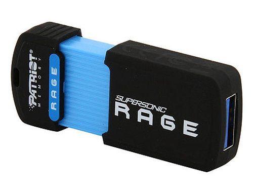 купить 128GB USB Flash Drive Patriot Supersonic Rage PEF128GSRUSB, Rubber coated, up to 180MB/s Read, USB 3.1 (Compatible USB 3.0) (memorie portabila Flash USB/внешний накопитель флеш память USB) в Кишинёве