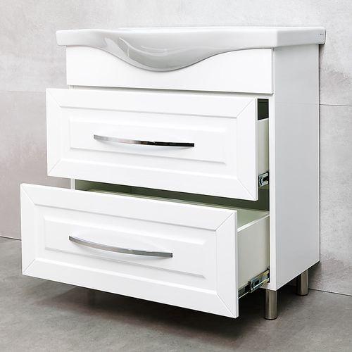 купить Aspiro Шкаф белый хром под умывальник Alba 800 в Кишинёве