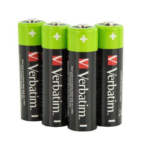 купить Verbatim AA Rechargeable Battery 2600mAh 4 Pack 49941 в Кишинёве