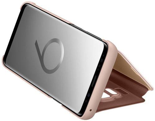cumpără Husă telefon Samsung EF-ZG960, Galaxy S9, Clear View Standing Cover, Gold în Chișinău