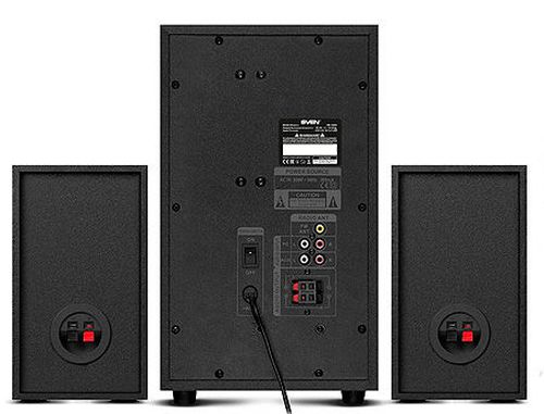 купить Active Speakers SVEN MS-2250 Black, mini music system: LED display, remote, Bluetooth, FM Tuner, USB port, SD slot ( 2.1 surround, RMS 80W, 50W subwoofer, 2x15W Satellites ), www в Кишинёве