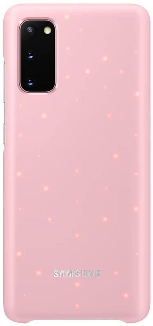 купить Чехол для смартфона Samsung EF-KG980 LED Cover Pink в Кишинёве