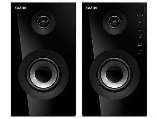 купить Active Speakers SVEN SPS-615 Black, RMS 20W, 2x10W, Bluetooth, USB port, SD slot, дерево/lemn (boxe sistem acustic/колонки акустическая сиситема), www, www в Кишинёве