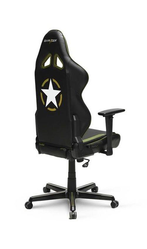 купить Gaming Chairs DXRacer - Racing GC-R52-NGE-Z1, Black/Grey/Green - PU leather, Gamer weight up to 100kg / growth 165-195cm, Foam Density 50kg/m3, 5-star Aluminum IC Base, Gas Lift 4 Class, Recline 90*-135*, Armrests: 3D, Pillow-2, Caster-2*PU, W-23kg в Кишинёве