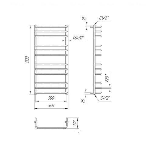 Полотенцесушитель Премиум Стандарт 1100х540/500